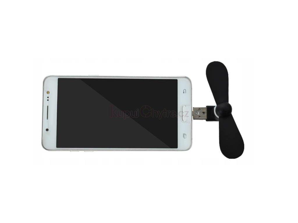 Větráček do telefonu USB-micro / notebook, PC USB (různé barvy)