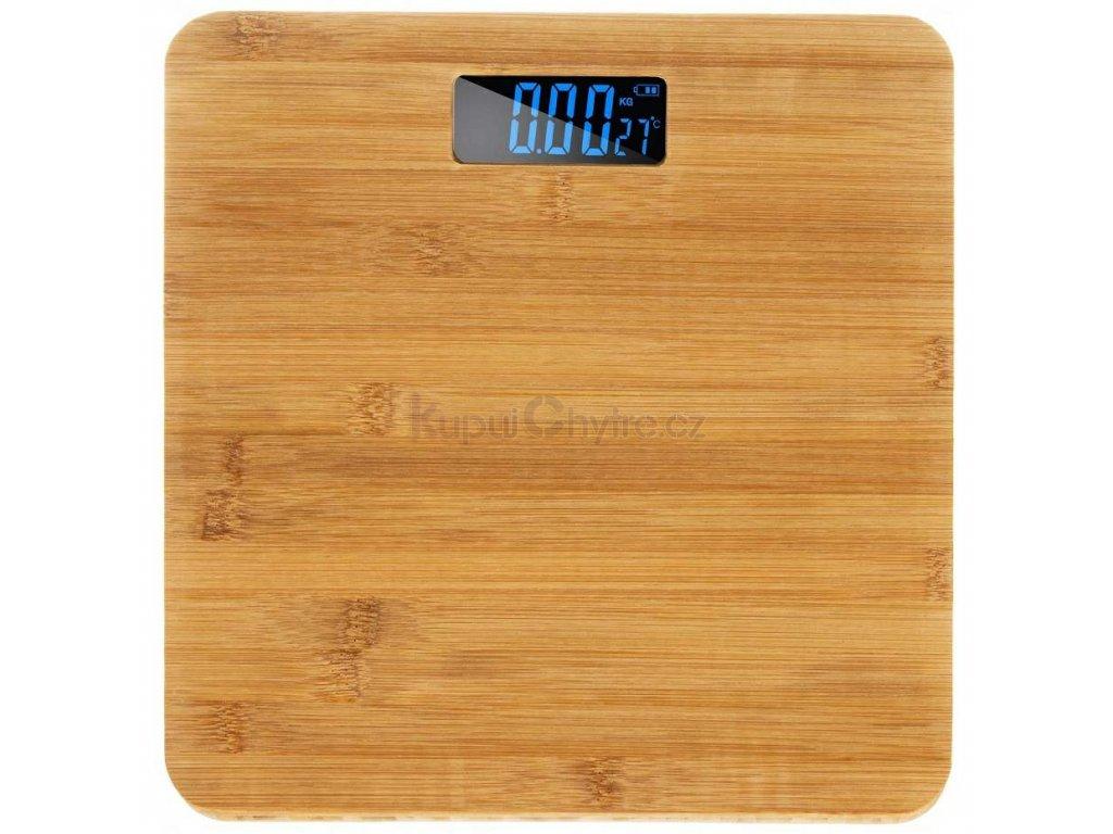Digitální osobní váha 180 kg - bambus