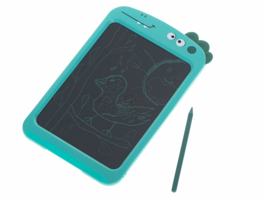 Grafická digitální LCD tabulka 8.5 na kreslení - zelená dinosaurus
