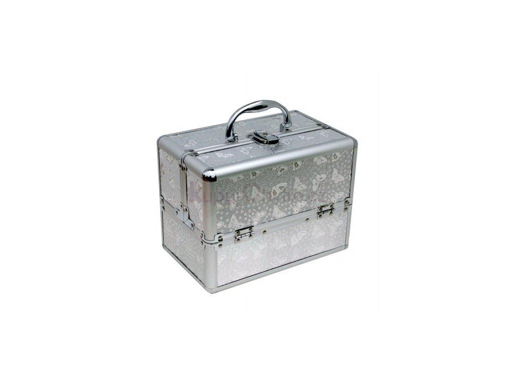 Kosmetický kufřík - stříbrný