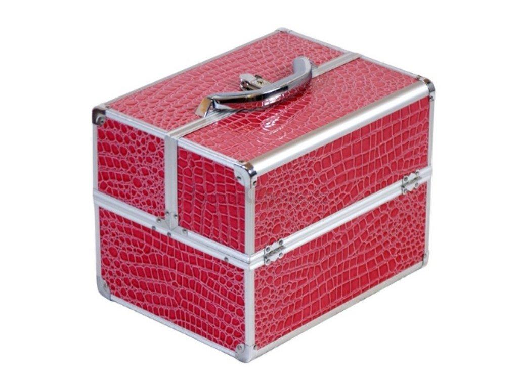 Kosmetický kufřík - růžový krokodýl