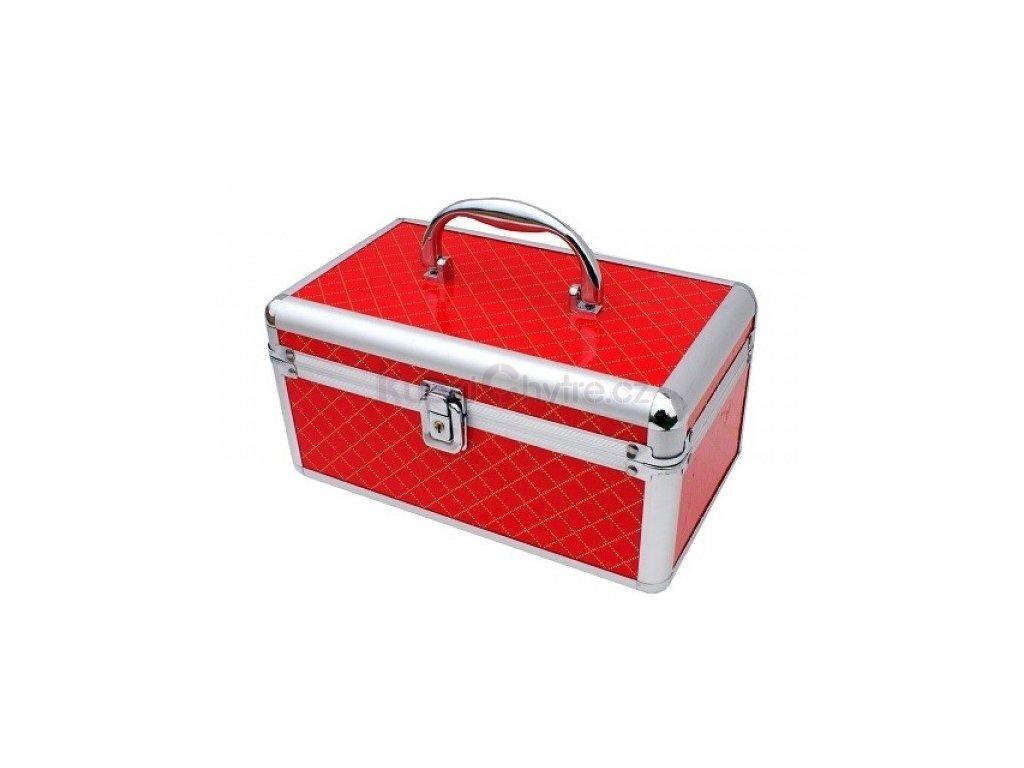 Kosmetický kufřík - červený