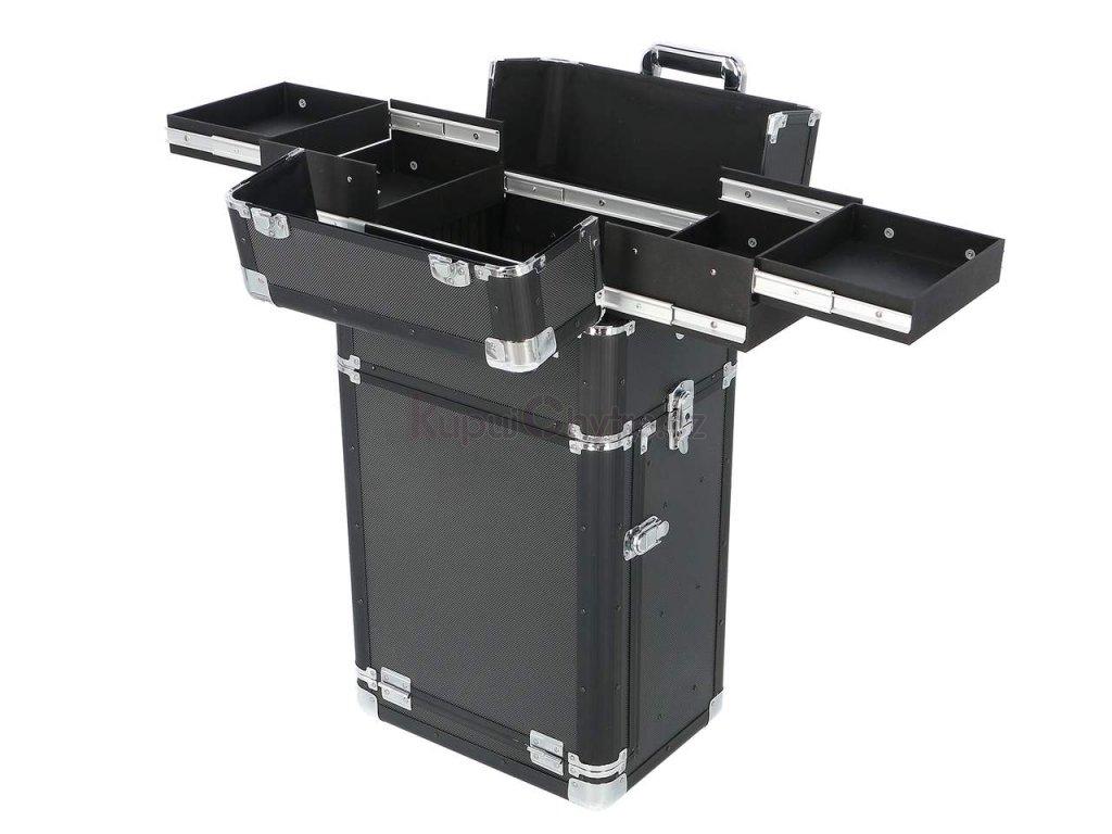 Kosmetický kufr na kolečkách - zásuvky