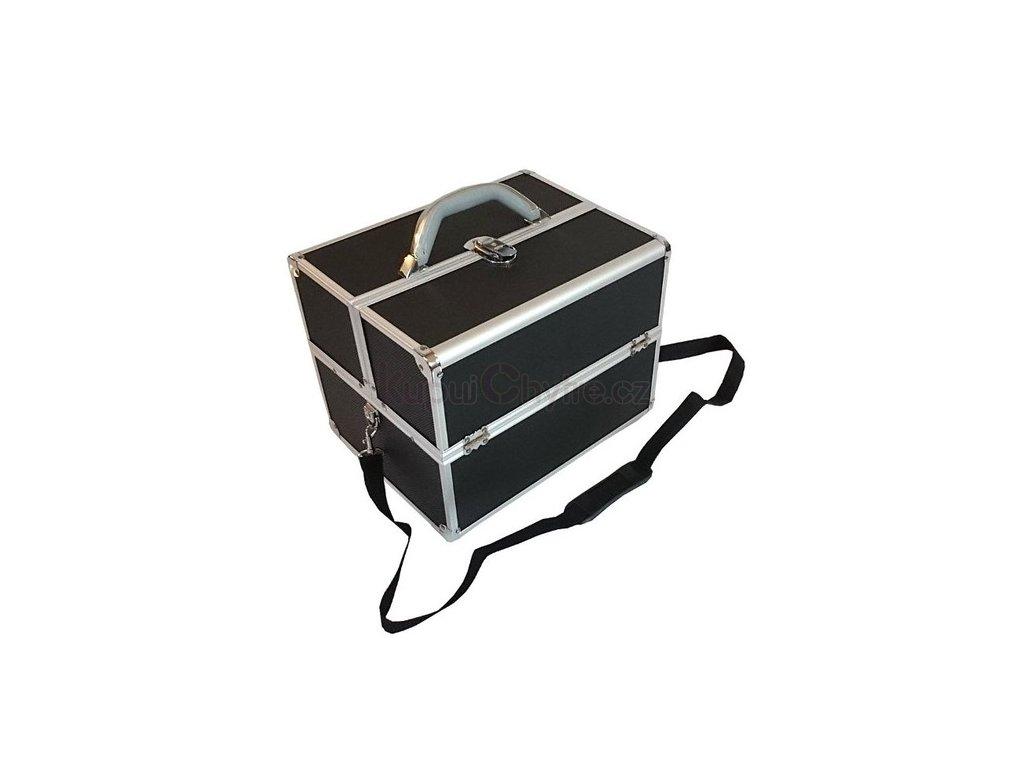 Černý kosmetický kufřík