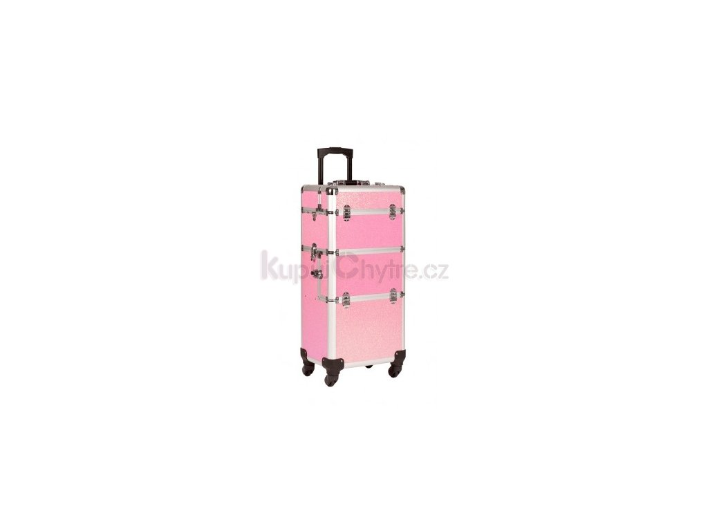 Kosmetický kufr na kolečkách - třpytky