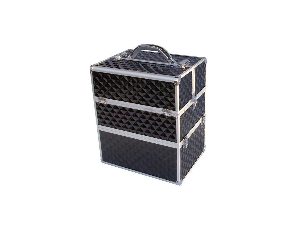 kosmetický kufr 3D - černý