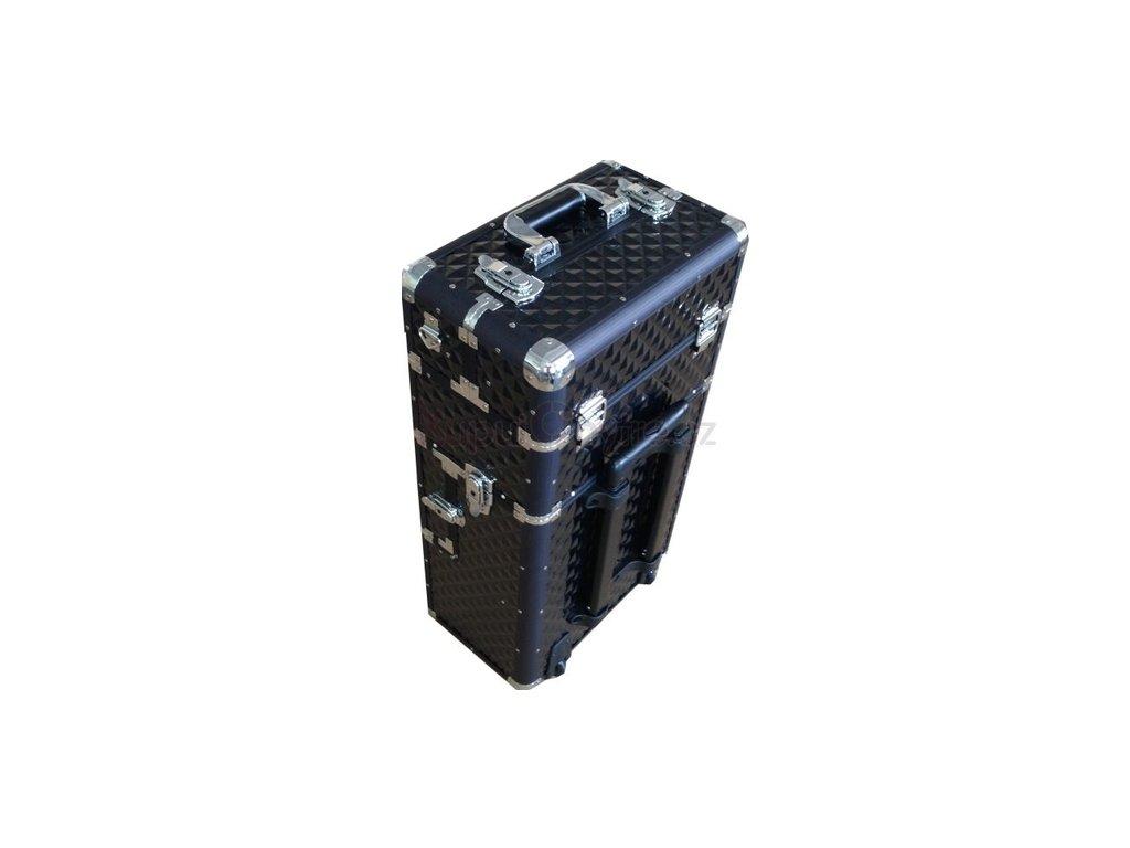 Kosmetický kufr na kolečkách - 3D černý