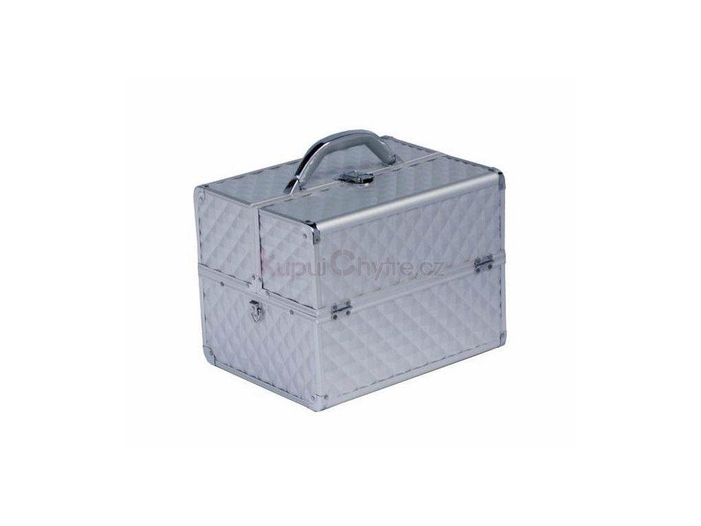 Kosmetický kufr diamond - stříbrný