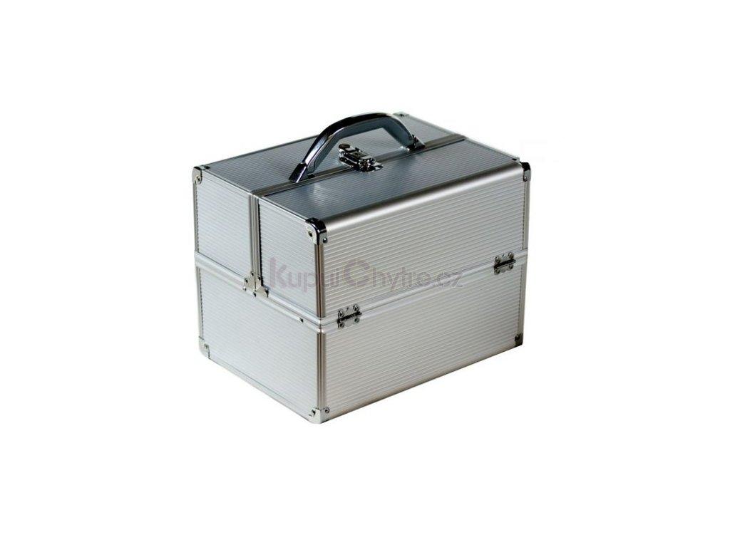Kosmetický kufr STRIP stříbrný