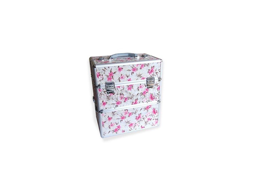 Kosmetický kufr - květiny