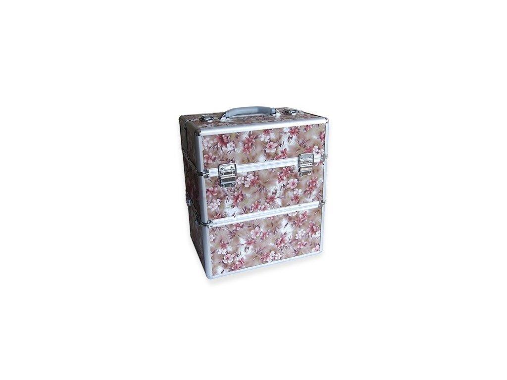 Kosmetický kufr - květy