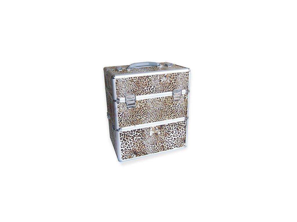 Kosmetický kufr - leopard