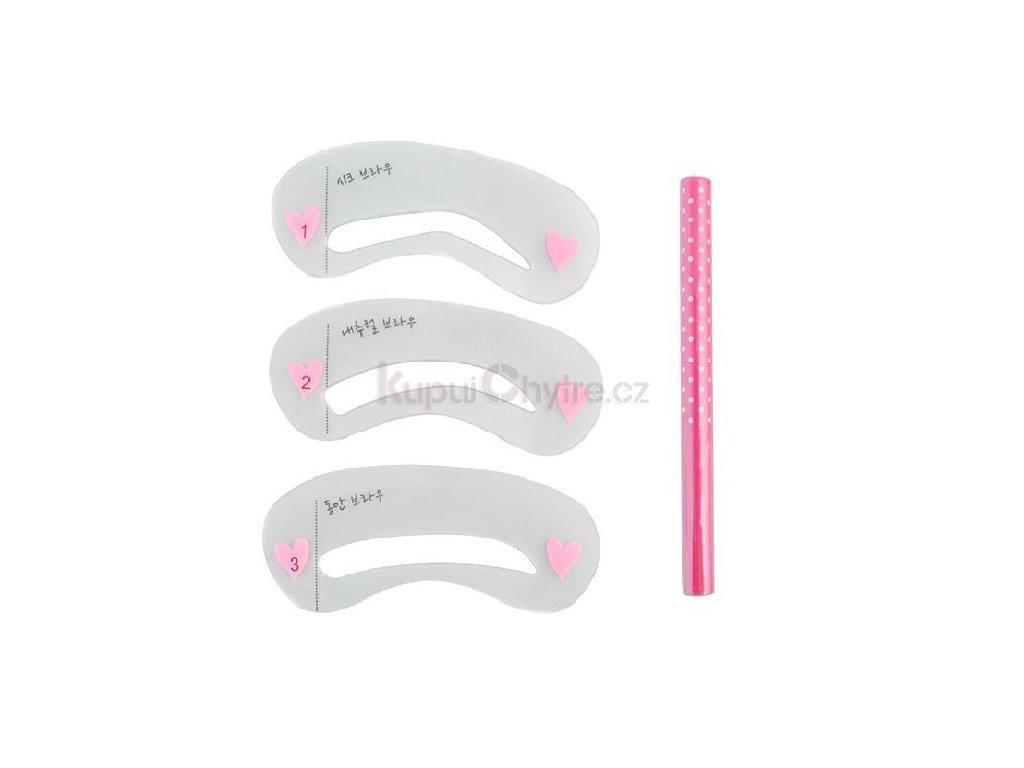Tužka na obočí včetně šablonky