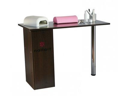Hnědý kosmetický stůl