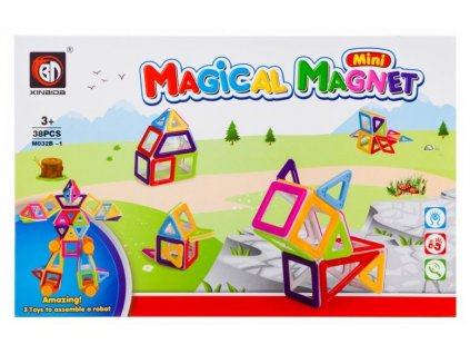 Magical Magnet V3 - Magnetická stavebnice - 38 dílů