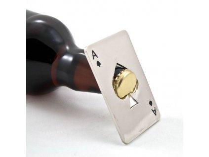 Otvírák na lahve do peněženky - pikové eso