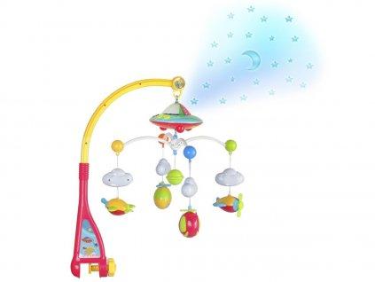 TOP BABY hrací kolotoč s projektorem hvězdiček + dálkové ovládání
