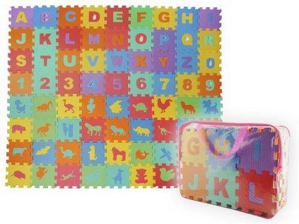 Dětský pěnový koberec - PUZZLE podložka 16 x 16cm - 72 ks