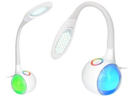 Stolní LED lampa 5W s nočním RGB podsvícením - bílá