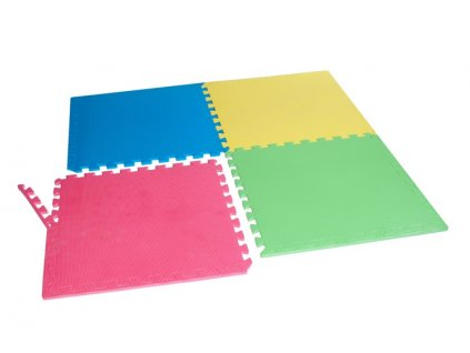PUZZLE pěnový koberec - cvičící / dětská podložka 58 x 58cm - 4 ks