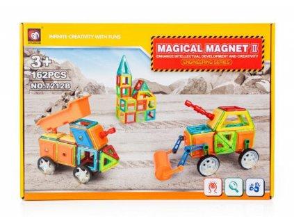 Magnetická stavebnice - Magical Magnet - průmyslové stroje - 162ks