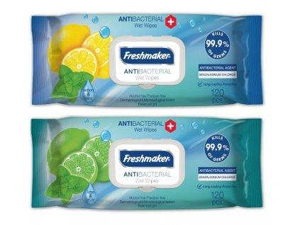 Antibakteriální vlhčené brousky 120ks