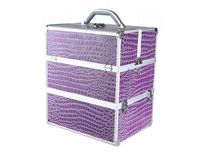 Kosmetický kufr - fialový krokodýl