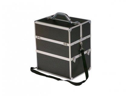 Kosmetický kufr - černý strip