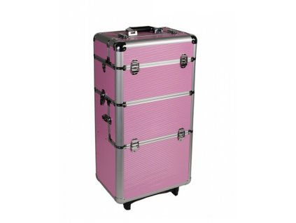 Kosmetický kufr na kolečkách - růžový
