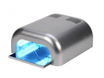 UV lampa na nehty 36W - stříbrná