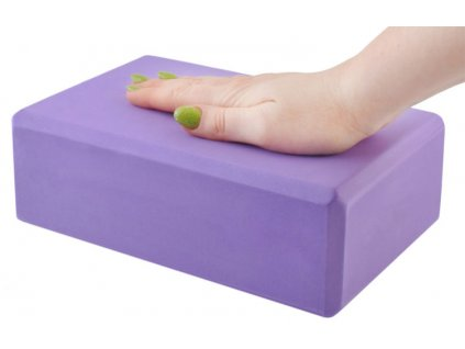 Pěnová kostka na cvičení - jóga, fitness (fialová)