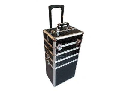 Kosmetický kufr na kolečkách - krokodýl