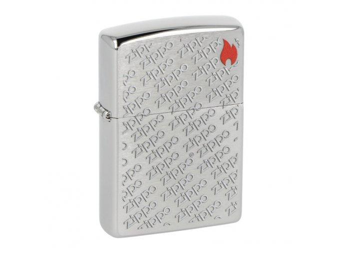 Zapalovač Zippo 200 Zippo Flame Design, broušený