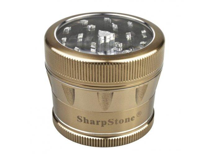 Drtič tabáku ALU Sharp Stone Gold, 53mm