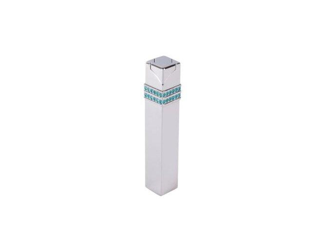 Dámský zapalovač Hadson Square, chrom, zirkony Swarovski