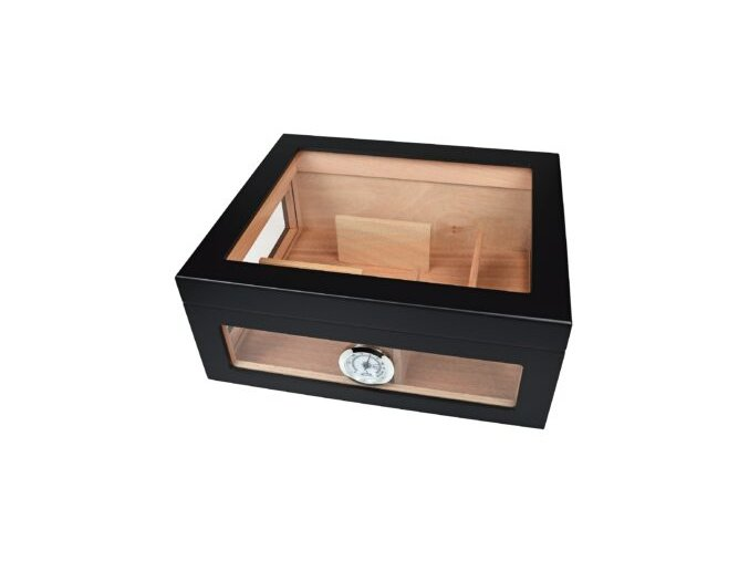 Humidor na doutníky Toppio, černý, stolní