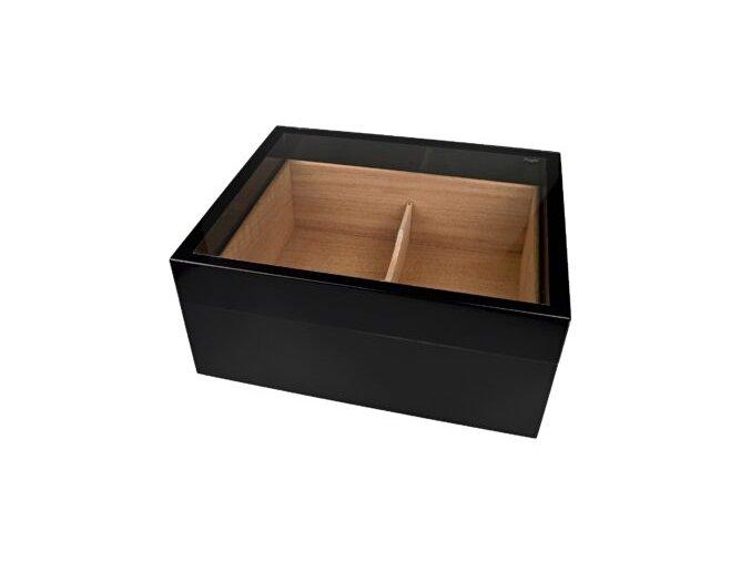 Humidor na doutníky Woody, černý, stolní