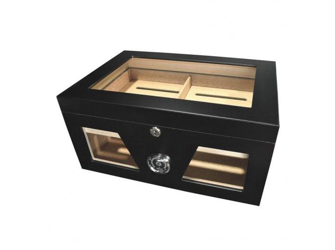 Humidor na doutníky Durio Black, stolní