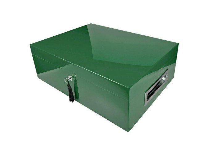 Humidor na doutníky Villagio, zelený, stolní