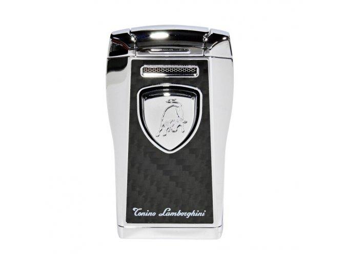 Tryskový zapalovač Lamborghini Argo, černostříbrný