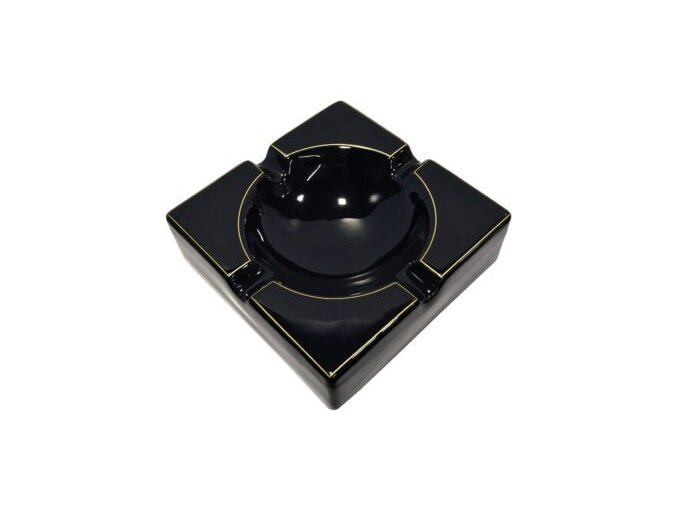Doutníkový popelník Suer, keramický, černozlatý