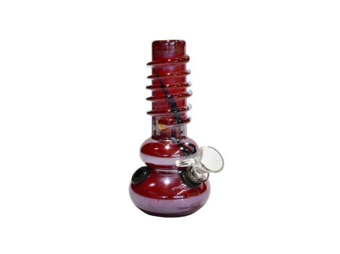 Bong Drater, sklo 16,5cm, červený