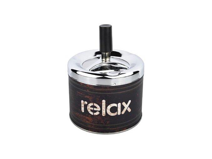 Cigaretový popelník otočný Angelo Relax black, kovový