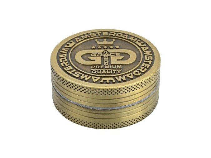 Drtič tabáku Grace Glass Amsterdam kovový, 50mm