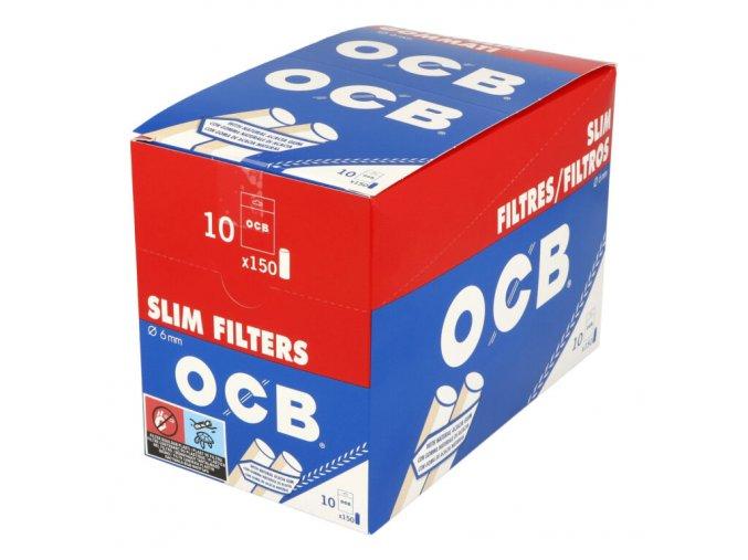 Cigaretové filtry OCB Slim s lepícím proužkem