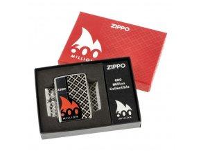 Zapalovač Zippo 600 Million Edition, leštěný