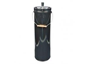 Venkovní popelník - odpadkový koš, černý