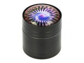 Drtič tabáku kovový 3D, 40mm