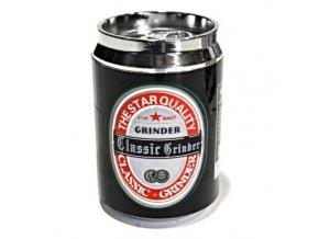 Drtič tabáku Beercan, kovový