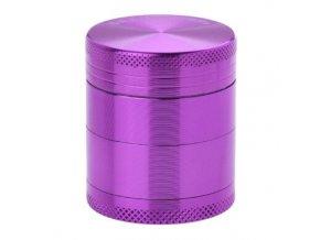Drtič tabáku kovový Champ High ALU, 40mm, fialový